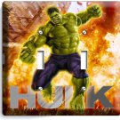 THE INCREDIBLE HULK DOUBLE LIGHT SWITCH WALL PLATE COVER BOYS BEDROOM ROOM DECOR