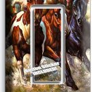 WILD AMERICAN HORSES RUNNING IN RIVER SINGLE GFCI LIGHT SWITCH WALL PLATE COVER