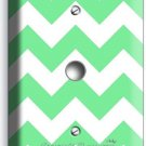 CHEVRON LITE GREEN STRIPES PASTEL LIGHT DIMMER VIDEO CABLE WALL PLATE ART COVER