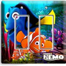 FINDING NEMO CLOWN FISH DORY OCEAN SEA CORAL REEF DOUBLE GFCI LIGHT SWITCH PLATE