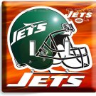 NY NEW YORK JETS NFL FOOTBALL TEAM LOGO DOUBLE LIGHT SWITCH WALL PLATE BOYS ROOM