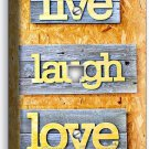 LIVE LAUGH LOVE RUSTIC WOODEN DESIGN PHONE TELEPHONE WALL PLATE COVER ROOM DECOR