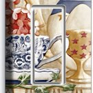 RUSTIC COUNTRY KITCHEN DISHES SINGLE ROCKER LIGHT SWITCH WALL PLATE COVER DECOR
