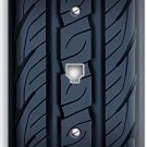 SPORTS CAR RACING TIRE PHONE JACK TELEPHONE WALL PLATE COVER MAN CAVE GARAGE ART