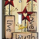 LIVE LAUGH LOVE SINGLE LIGHT SWITCH WALL PLATE KITCHEN DECOR LIVING ROOM BEDROOM