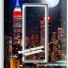 MANHATTAN NIGHT SKYLINE STARS MOON SINGLE GFI LIGHT SWITCH WALL PLATE ROOM DECOR