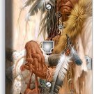NATIVE AMERICAN INDIAN CHIEF PHONE TELEPHONE WALL PLATE COVER ROOM HOME NY DECOR