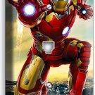IRONMAN SUPERHERO PHONE JACK TELEPHONE WALL PLATE COVER BOYS BEDROOM IRON MAN TV
