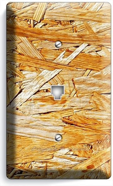 RUSTIC ROUGH PLYWOOD WOOD LOOK PHONE TELEPHONE WALL PLATE KITCHEN ROOM ART DECOR
