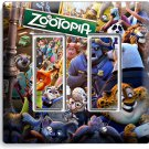 ZOOTOPIA RED FOX NICK JUDY SLOTH FLASH DOUBLE GFCI LIGHT SWITCH WALL PLATE COVER