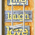 LIVE LAUGH LOVE RUSTIC WOOD LOOK SINGLE GFCI LIGHT SWITCH WALL PLATE COVER DECOR