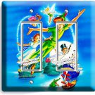 PETER PAN WENDY TINK NEVERLAND DOUBLE GFCI LIGHT SWITCH WALL PLATE COVER DECOR