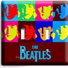 THE BEATLES POP ART JOHN GEORGE PAUL RINGO DOUBLE LIGHT SWITCH COVER ROOM DECOR