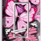 PINK BUTTERFLIES SINGLE LIGHT SINGLE GFI WALL PLATE BABY GIRL ROOM NURSERY DECOR