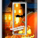 HALLOWEEN GHOST PUMPKINS GFI SINGLE LIGHT SWITCH WALL PLATE COVER ART DECORATION