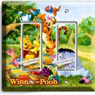 WINNIE POOH TIGGER EEYORE PIGLET DOUBLE GFI LIGHT SWITCH WALL PLATE COVER DECOR