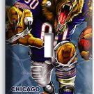 CHICAGO BEARS RUNNING ANGRY NFL FOOTBALL MAN CAVE SINGLE LIGHT SWITCH WALL PLATE