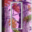 PINK OAK LEAVES MOSSY TREE CAMO CAMOUFLAGE SINGLE GFCI LIGHT SWITCH WALL PLATE