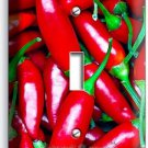 HOT RED CHILI PEPPERS SINGLE LIGHT SWITCH WALL PLATE COVER KITCHEN PANTRY DECOR