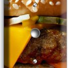 CHEESEBURGER BEEF JUICY BURGER LIGHT DIMMER CABLE WALL PLATE COVER KITCHEN DECOR