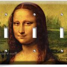MONA LISA LEONARDO DA VINCI PAINTING TRIPLE LIGHT SWITCH WALL PLATE COVER DECOR