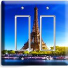 EIFFEL TOWER PARIS LOVE CITY DOUBLE GFI LIGHT SWITCH WALL PLATE COVER HOME DECOR
