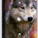 GRAY WOLF WOODS FOREST LIGHT DIMMER VIDEO CABLE WALL PLATE COVER HOME ROOM DECOR