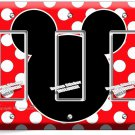 MICKEY MOUSE EARS POLKA DOTS TRIPLE GFCI LIGHT SWITCH WALL PLATE COVER BABY ROOM