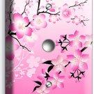 JAPANESE PINK SAKURA CHERRY FLOWERS BLOSSOM LIGHT DIMMER VIDEO CABLE PLATE COVER