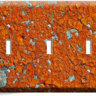 RUSTIC CRACKED RUST RUSTED TRIPLE LIGHT SWITCH WALL PLATE COVER HOME ROOM DECOR
