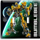 TRANSFORMERS AUTOBOT BUMBLE BEE DOUBLE LIGHT SWITCH BOYS BEDROOM ROOM HOME DECOR