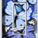 BLUE BUTTERFLIES SINGLE GFCI LIGHT SWITCH WALL PLATE BABY BOY ROOM NURSERY DECOR