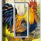 FRENCH ROOSTER FARM CHICKEN CHICKS SINGLE GFCI LIGHT SWITCH WALL PLATE ART COVER
