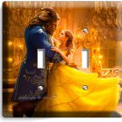 BEAUTY AND THE BEAST PRINCESS BELLE DOUBLE LIGHT SWITCH WALL PLATE BEDROOM DECOR