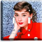AUDREY HEPBURN SEXY RETRO ACTRESS DOUBLE LIGHT SWITCH WALL PLATE ROOM HOME DECOR