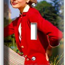 AUDREY HEPBURN SEXY RETRO ACTRESS SINGLE LIGHT SWITCH WALL PLATE HOME ROOM DECOR