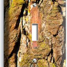 RUSTIC TREE BARK CRACKED WOOD CHIPS SINGLE LIGHT SWITCH WALL PLATE BEDROOM DECOR