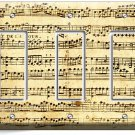 ♫ SHEET MUSIC OLD MUSICAL NOTES TRIPLE GFCI LIGHT SWITCH WALL PLATE COVER STUDIO