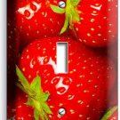 STRAWBERRIES SINGLE LIGHT SWITCH WALL PLATE KITCHEN ART DECOR LIVING DINING ROOM