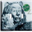 COWARDLY LION BERT LAHR WIZARD OF OZ RETRO DOUBLE LIGHT SWITCH WALL PLATE COVER