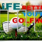 LIFE is BETTER GOLFING GOLF TRIPLE GFCI LIGHT SWITCH WALL PLATE COVER ROOM DECOR