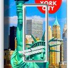 NEW YORK CITY STATUE OF LIBERTY SINGLE GFI LIGHT SWITCH WALL PLATE COVER DECOR