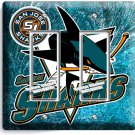 SAN JOSE SHARKS HOCKEY TEAM GFCI DOUBLE LIGHT SWITCH WALL PLATE MAN CAVE DECOR