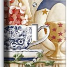 RUSTIC COUNTRY KITCHEN PANTRY DISHES SINGLE LIGHT SWITCH WALL PLATE COVER DECOR