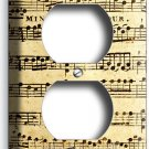 ♫ SHEET MUSIC OLD RETRO MUSICAL NOTES ELECTRICAL OUTLET WALL PLATE COVER STUDIO