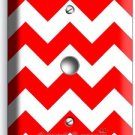 RED CHEVRON ZIG ZAG PATTERN LIGHT DIMMER VIDEO CABLE WALL PLATE COVER HOME DECOR