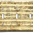 SHEET MUSIC VINTAGE MUSICAL NOTE TRIPLE LIGHT SWITCH WALL PLATE COVER STUDIO ART