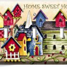 RUSTIC COUNTRY BIRD HOUSES SWEET HOME TRIPLE LIGHT SWITCH WALL PLATE COVER DECOR