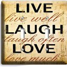 LIVE LAUGH LOVE RUSTIC COUNTRY DOUBLE LIGHT SWITCH WALL PLATE KITCHEN BEDROOM TV