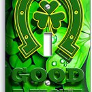 LUCKY CLOVER GOOD LUCK HORSESHOE SINGLE LIGHT SWITCH WALL PLATE HOME HOUSE DECOR